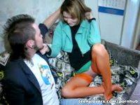 Домашний секс малолетки Иры с парнем Игорем